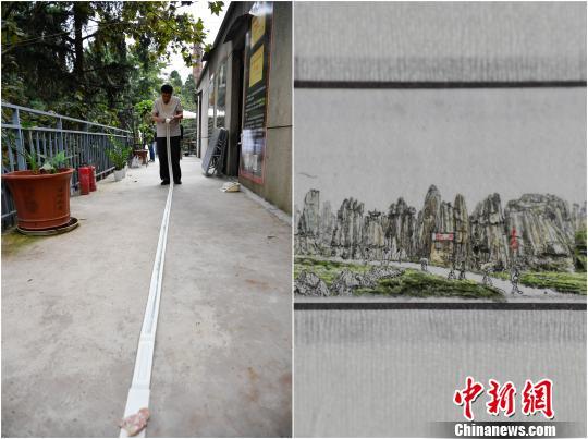 微雕师绘8米长卷展云南风光 人如芝麻大神情惟妙惟肖