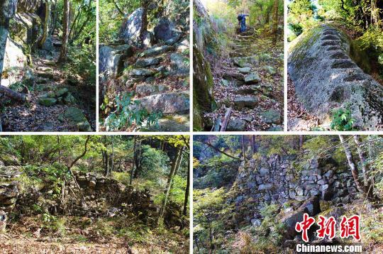 安徽黄山新发现一条千米古道和一处古遗址