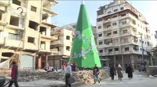 叙利亚人民在废墟中过圣诞