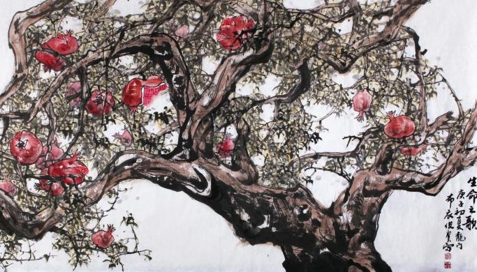 """""""一手伸向生活,一手伸向传统"""":当代长安画家卫俊贤个展在广州举行"""