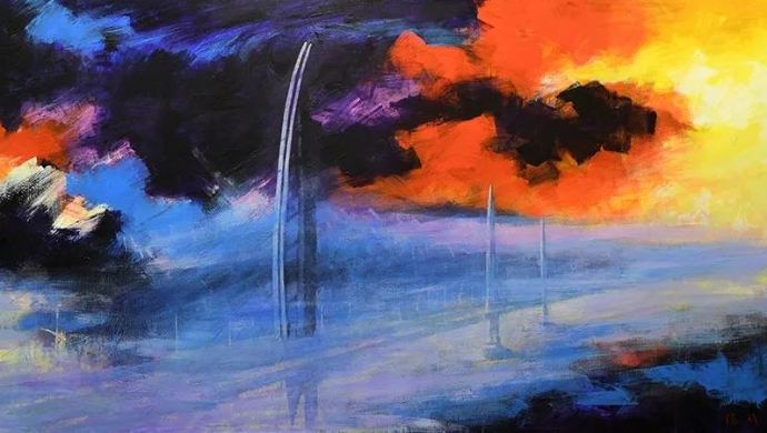 再现大国重器桥梁奇观:陈许油画个展在穗展出