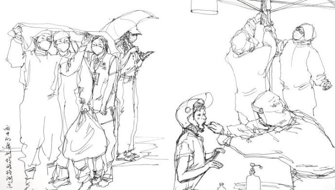 面对疫情,他再次提起画笔 广美教授张弘:艺术家在现场,创作更主动